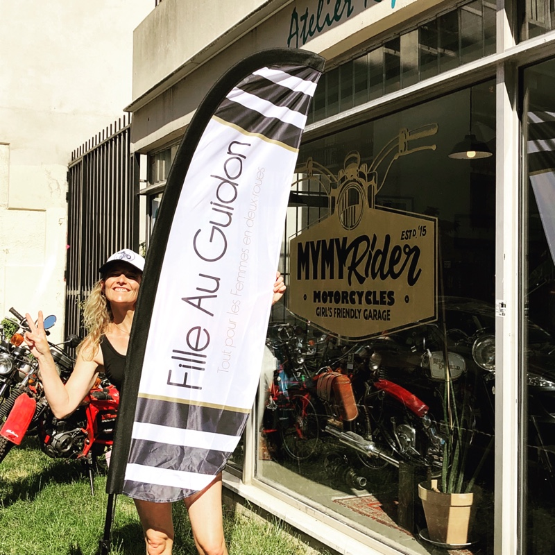 271d91141bded Samedi 6 Juillet, nous avons organisé avec Myriam de MYMY Rider, la  première vente privée Fille Au Guidon.